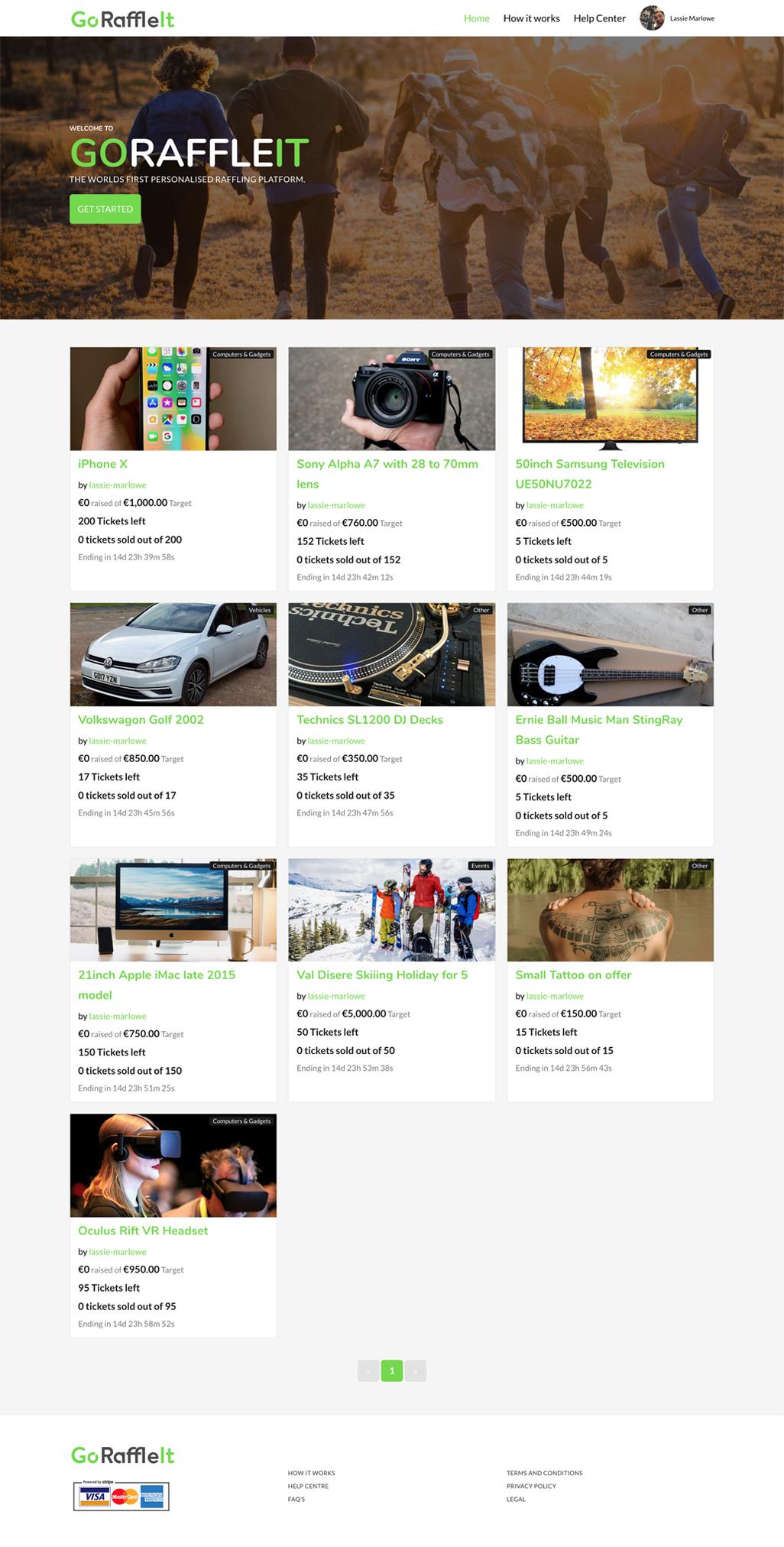 Project: GoRaffleIt.com